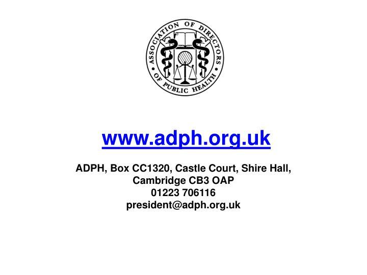 www.adph.org.uk