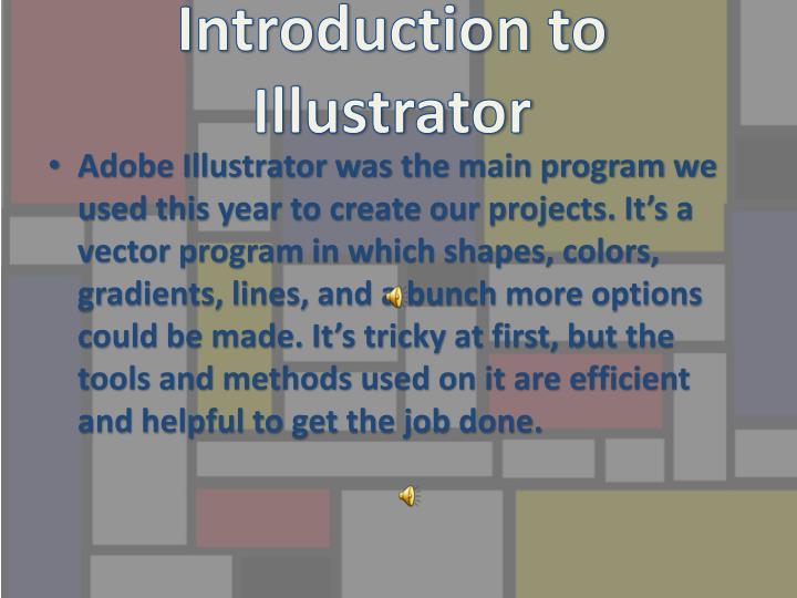 Introduction to illustrator