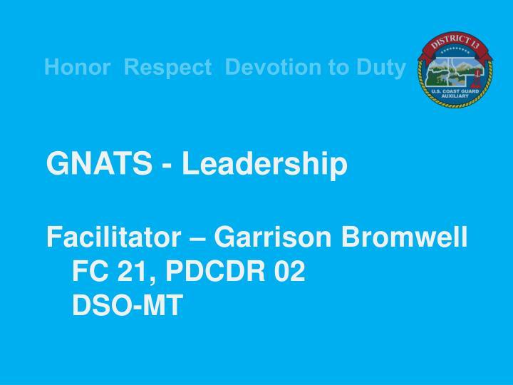 GNATS - Leadership