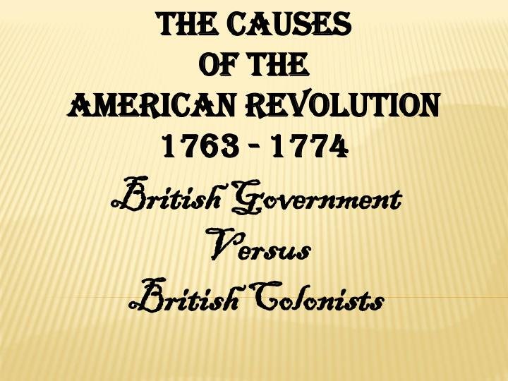 The Causes