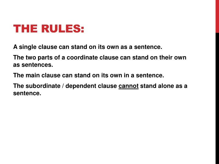 The Rules:
