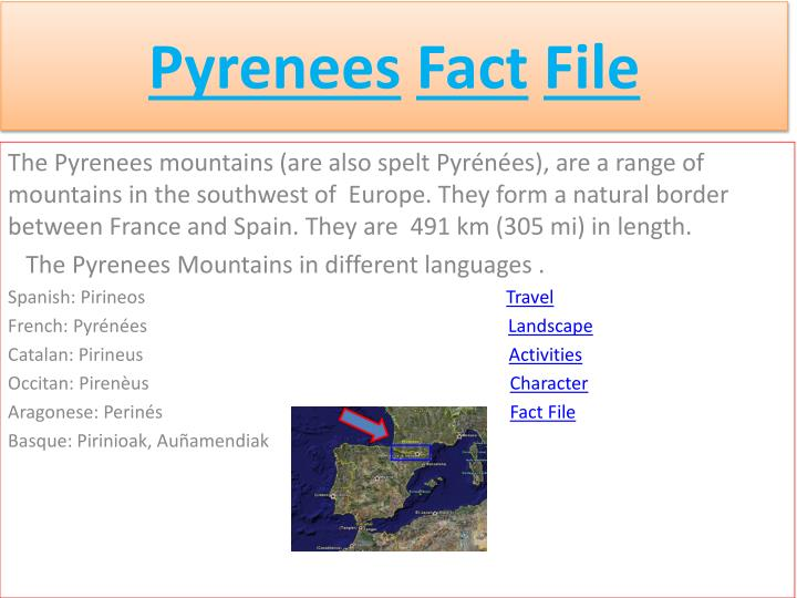 Ppt Pyrenees Fact File Powerpoint Presentation Free