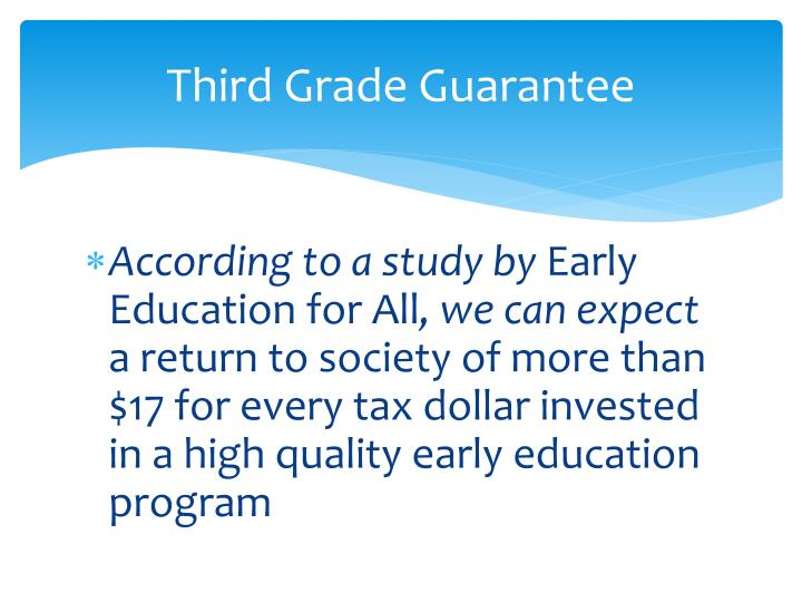 Third grade guarantee