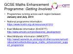gcse maths enhancement programme getting involved
