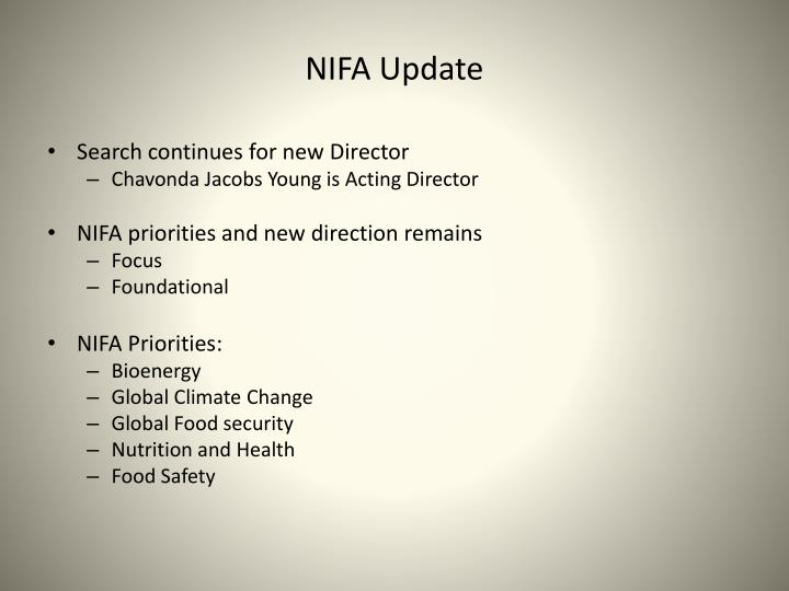 Nifa update