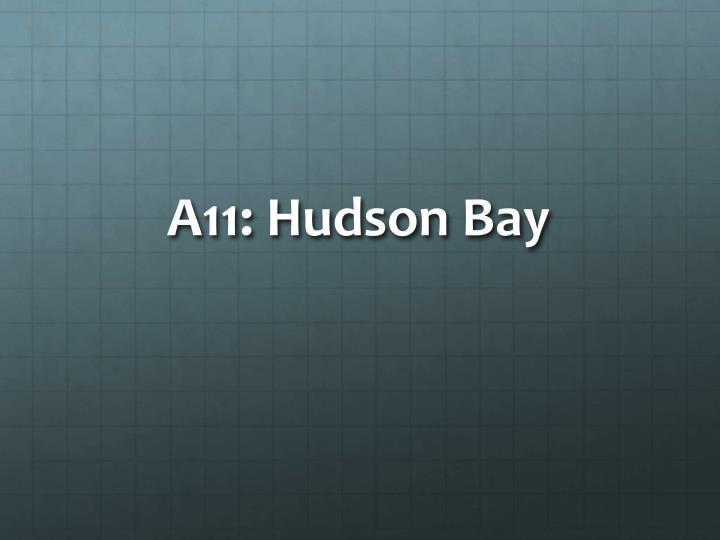 A11: Hudson Bay