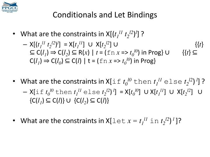 Conditionals and Let Bindings