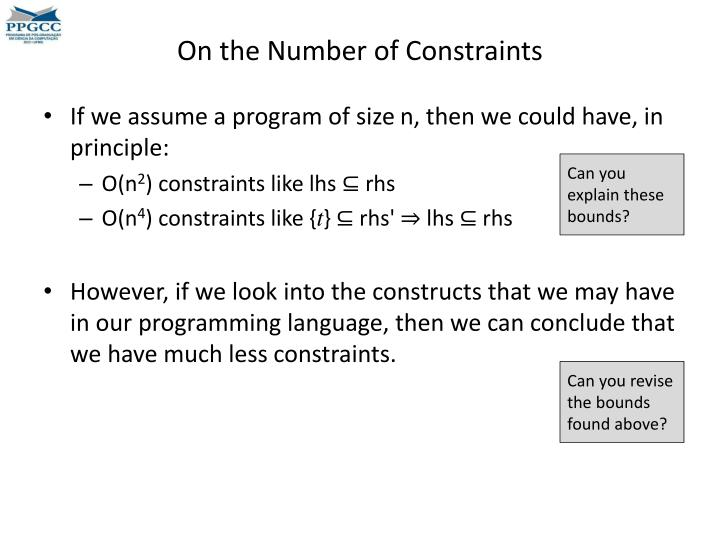 On the Number of Constraints