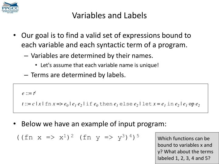 Variables and Labels