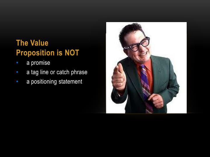 The Value Proposition is