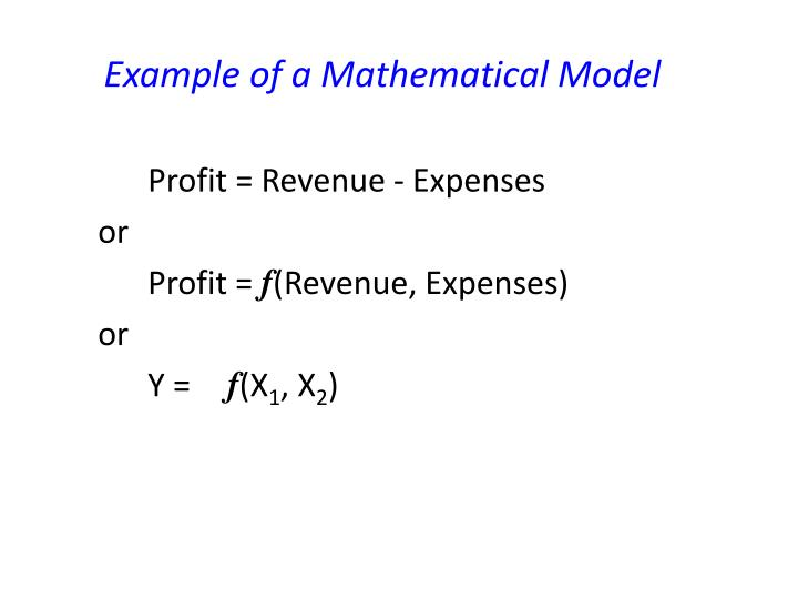 Example of a Mathematical Model