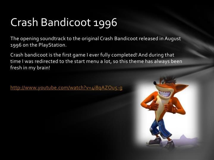 Crash bandicoot 1996