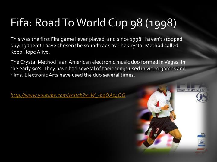 Fifa road to world cup 98 1998