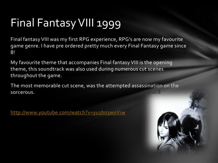 Final Fantasy VIII 1999