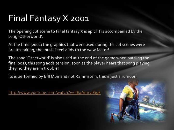 Final Fantasy X 2001