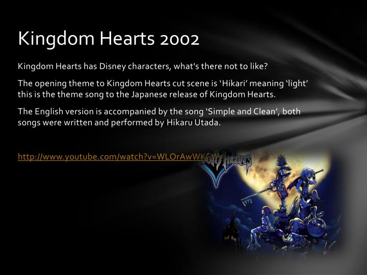 Kingdom Hearts 2002