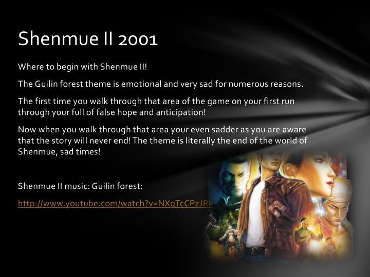 Shenmue II 2001