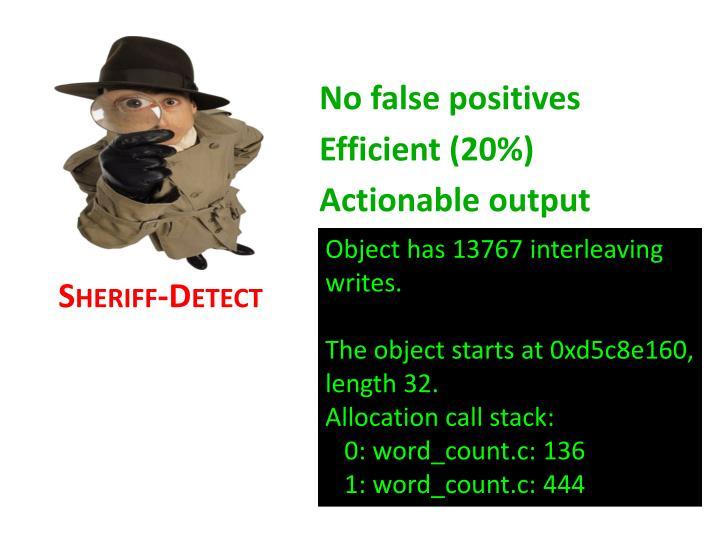 No false positives