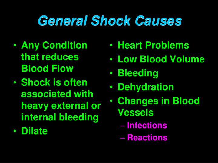 Any Condition that reduces Blood Flow