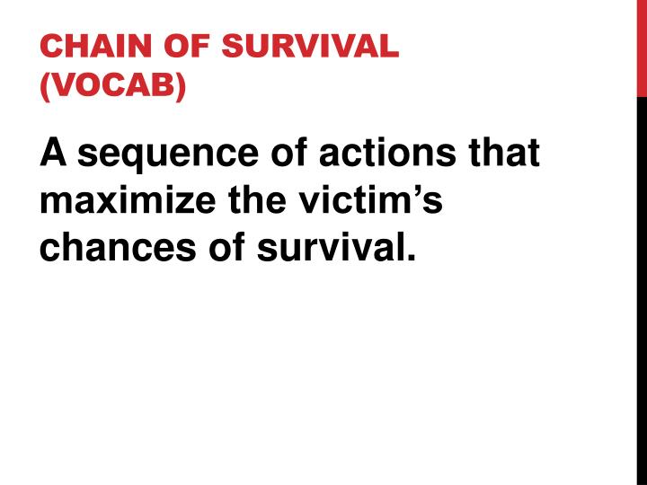 Chain of survival vocab