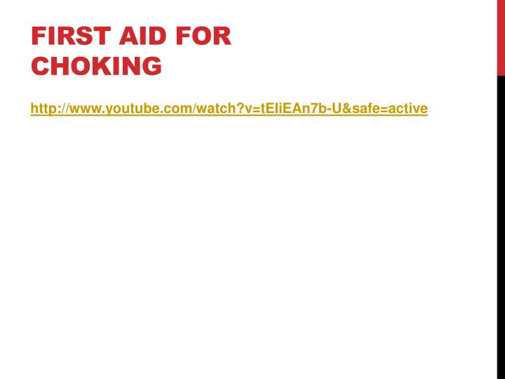 First Aid for Choking
