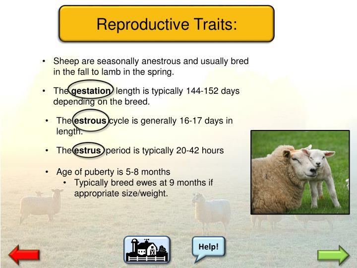 Reproductive Traits: