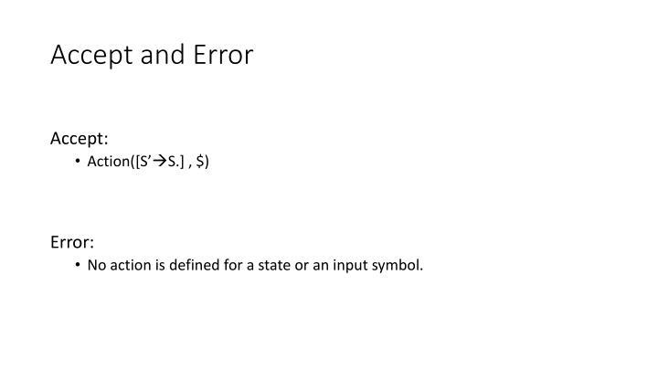 Accept and Error