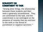 schlechty on commitment to task