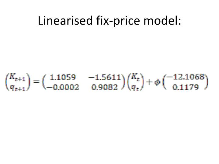 Linearised fix-price model: