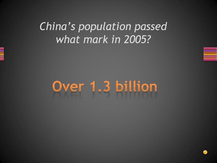 China's population passed