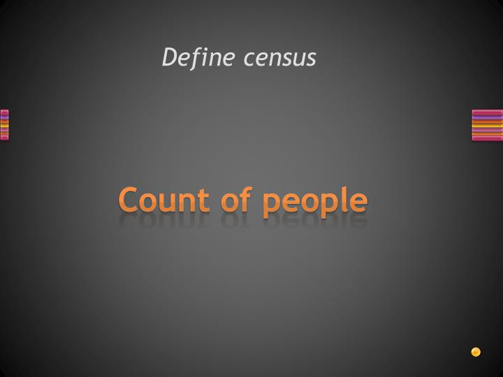 Define census