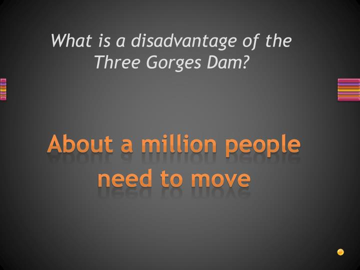 What is a disadvantage of the