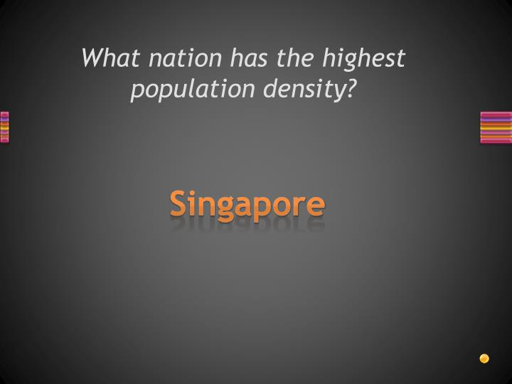 What nation has the highest