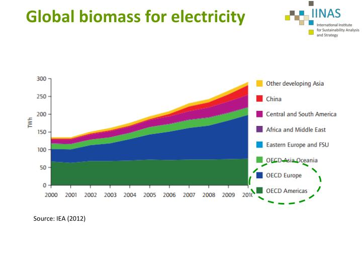 Global biomass for electricity