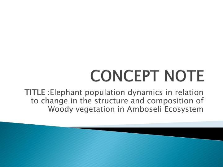 concept note n.