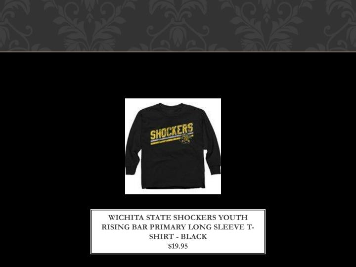 Wichita State Shockers Youth Rising Bar Primary Long Sleeve T-Shirt - Black