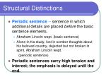 structural distinctions1