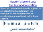 newton s second law the law of acceleration