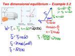 two dimensional equilibrium example 5 21