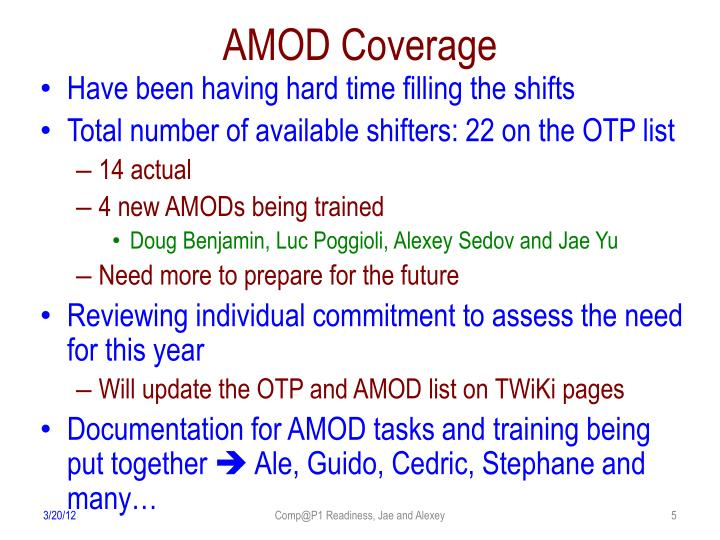 AMOD Coverage