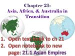 chapter 21 asia africa australia in transition