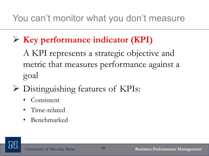 You can't monitor what you don't measure