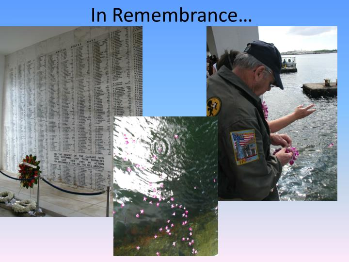 In Remembrance…