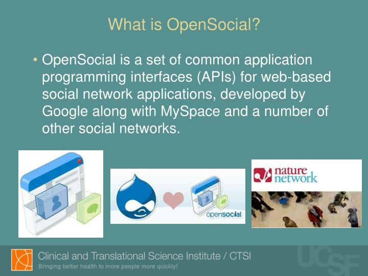 What is opensocial