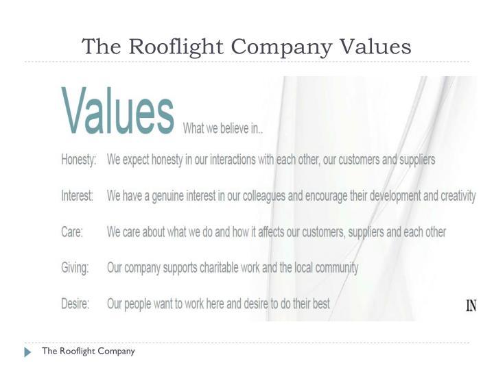 The Rooflight Company Values