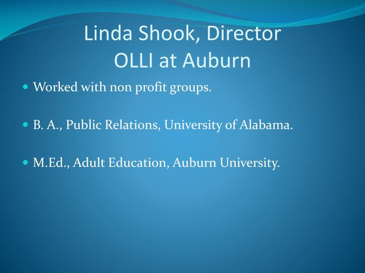 Linda Shook, Director