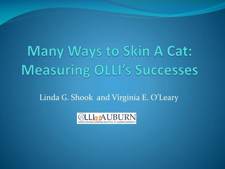 Many ways to skin a cat measuring olli s successes