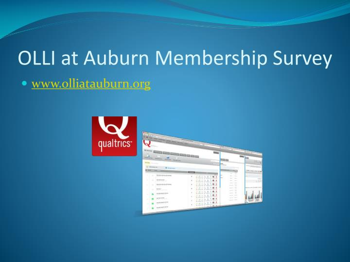 OLLI at Auburn Membership Survey