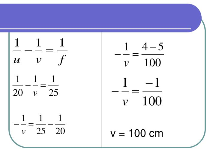 v = 100 cm