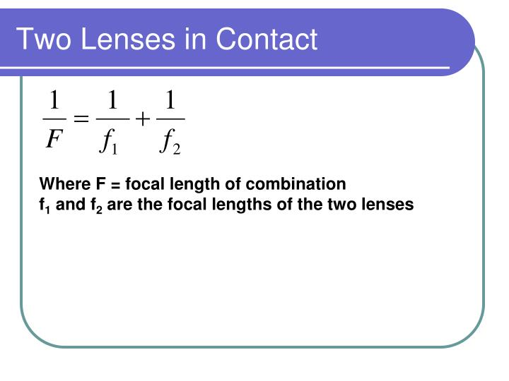 Two Lenses in Contact